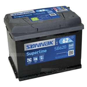 SØNNAK BATTERI SUPERLINE 62AH/540A