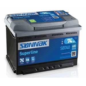 EXIDE BATTERI SUPERLINE 74AH/680A