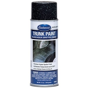 TRUNK SPATTER PAINT, BLACK - AQUA